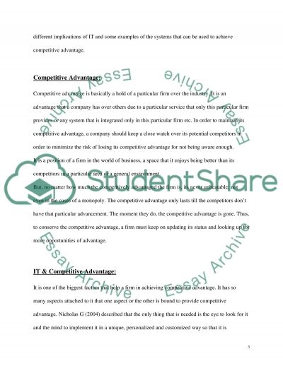 Information Technology in Business essay example