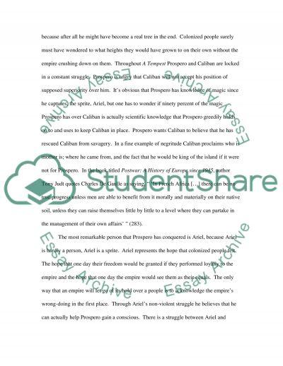 A Tempest essay example