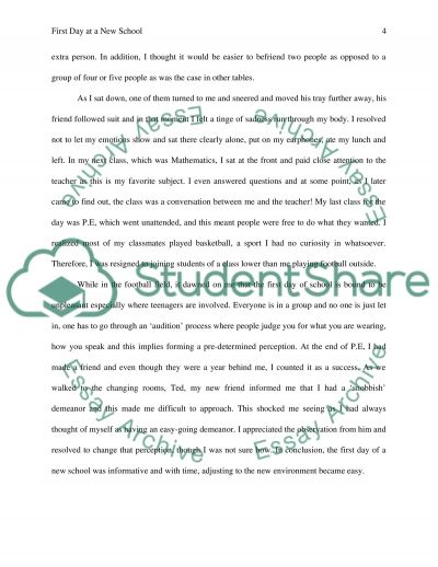 the first day at a new school or college essay example topics text