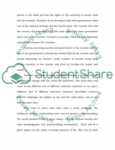 Tourism Development essay example