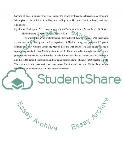 Muslim essay example
