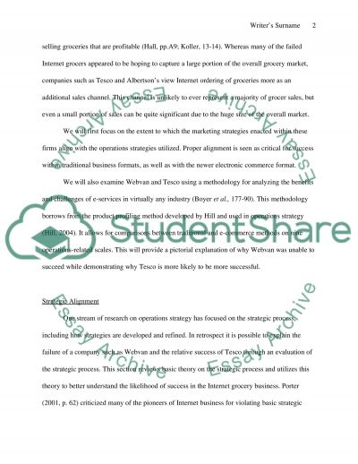 Operational Strategy essay example