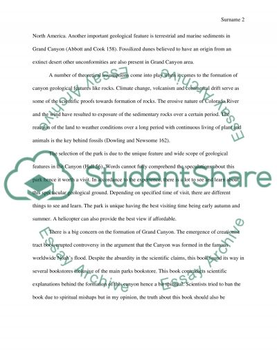 National Park essay example