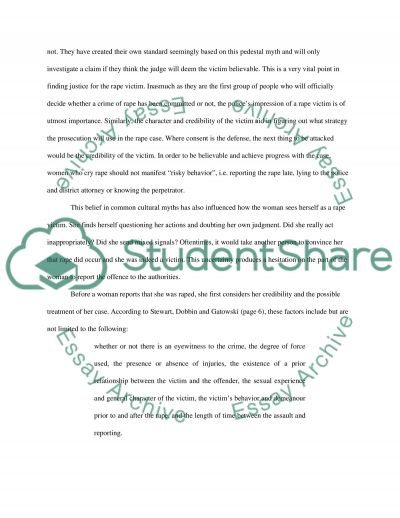 Real rapes and Real victims essay example