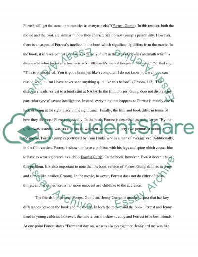 compare and contrast the book forrest gump and the movie essay related essays