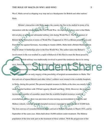 role of malta in ww and ww essay example  topics and well written  role of malta in ww and ww