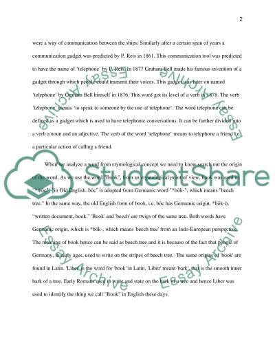 etymology essay example topics and well written essays words etymology essay example