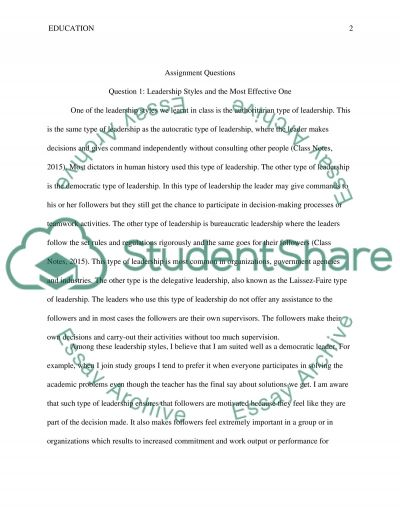 Quesions essay example