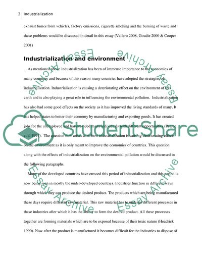 Environmental studies essay