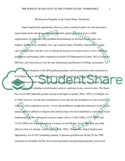 equality of opportunity essay