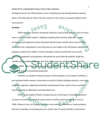 Effective Assessment Practices Paper