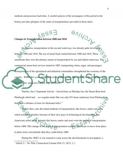 Changes in American Transportation essay example