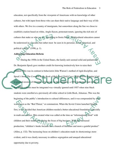 Argumentative Essay On Health Care Reform  Essays And Term Papers also Essay On My Family In English The Role Of Federalism In Education Essay Example  Topics  Business Management Essays
