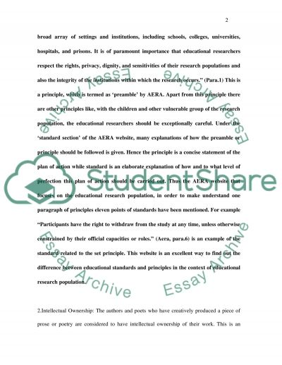 Educational Standards and Principles essay example