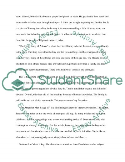 literary journalism essay example topics and well written essays  literary journalism essay example
