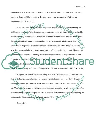 Poetry review essay