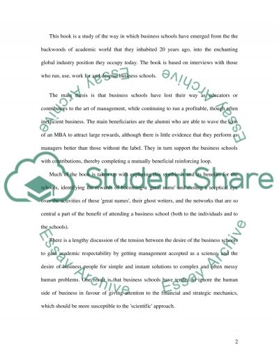 Business Schools essay example