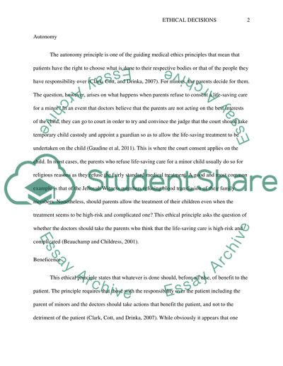 Ethical Decisions Essay