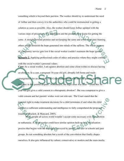Social Work Value and Ethics essay example