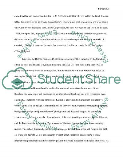 Essay about a graphic designer