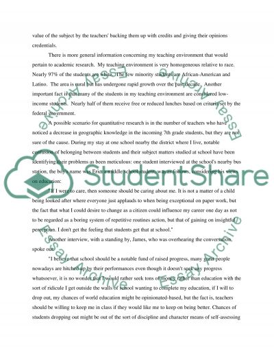 Middle school and high school students essay example