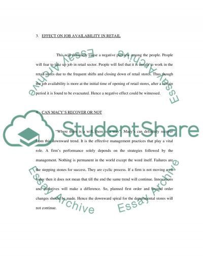 Case analysis Assignment essay example