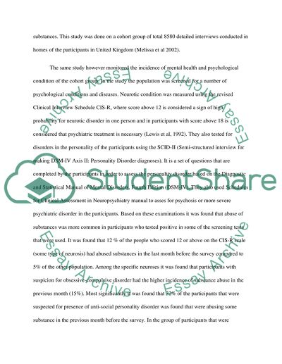 substance use and mental health essay example  topics and well  substance use and mental health