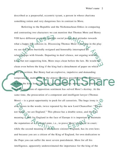 Fifth Business Essays Robert Bolts Play A Man For All Seasons High School Persuasive Essay also High School And College Essay Robert Bolts Play A Man For All Seasons Essay Example  Topics And  Health Care Essays