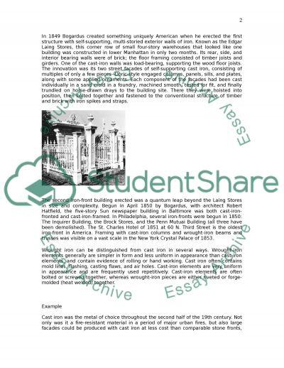 Construction essay example
