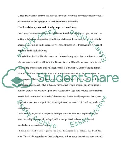 Future Goals And Reasons For Choosing The Dnp Program Essay Future Goals And Reasons For Choosing The Dnp Program