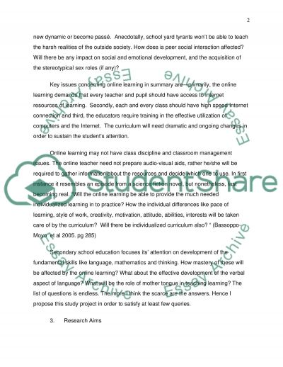 Online Learning essay example