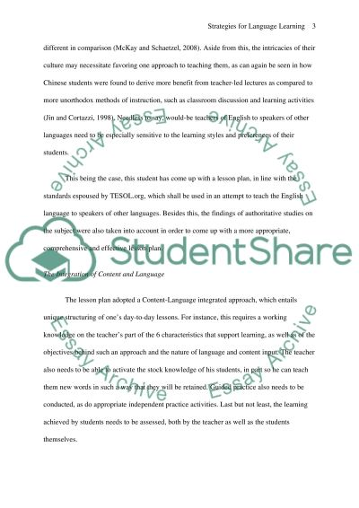 Effective Strategies for English Language Learners essay example