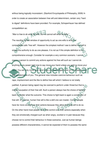 Can Compatibilism be Defended essay example