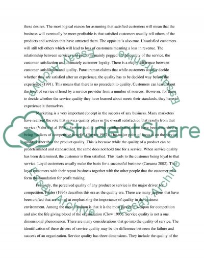 Critique of the service-profit chain essay example