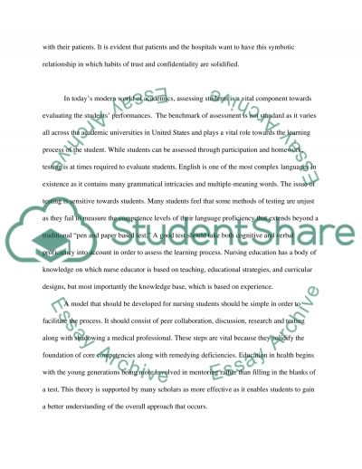 Facilitate Learning and Assessment in the Clinical Environment  Essay example