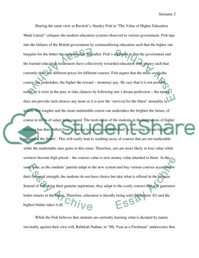 Compare four different authors about education essay example