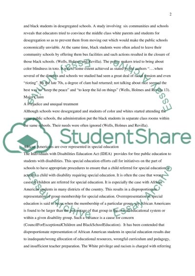 Brown v Board of Education essay example