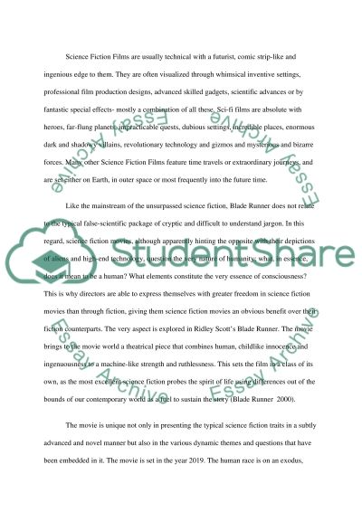 Science fiction and film essay example