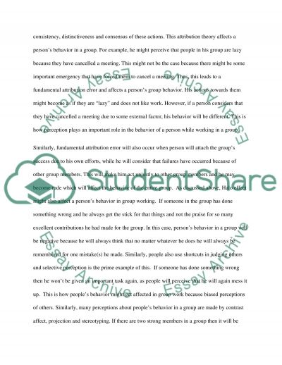 Group Management Essay example