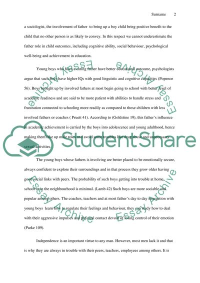 Father And Son Relationship Essay | Many Essays