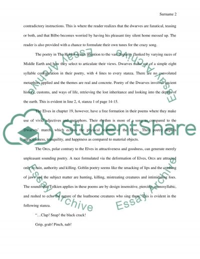 Poetry paper essay example