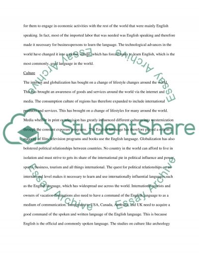 Impact of English and TESOL in the Middle East essay example
