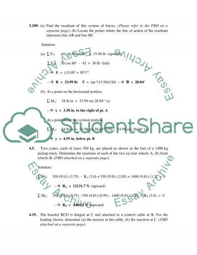 Homework(3) - Vor Mechanics / Statics essay example