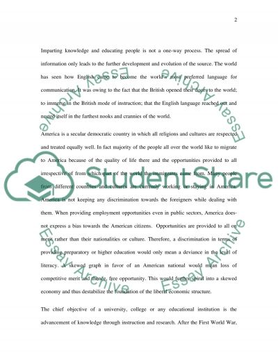 Resolution: Only American students should attend American preparatory schools, colleges, and universities essay example
