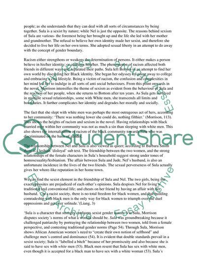 Sula essays