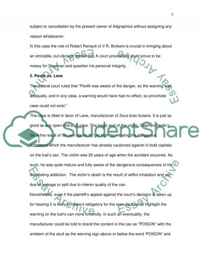 Law course (case study) essay example