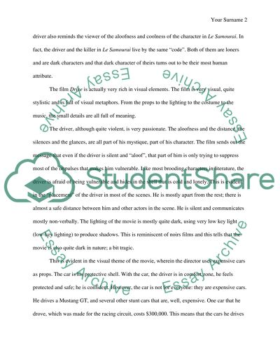 Essay About Paper Miseenscene Drive And Sixteen Candles English Essay About Environment also High School Scholarship Essay Examples Miseenscene Drive And Sixteen Candles Essay Example  Topics And  Essay Papers Online