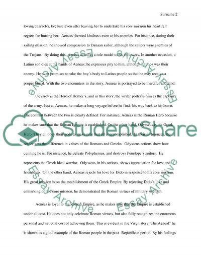 Analysis of Aeneid essay example