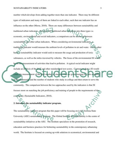 sustainability indicators essay example  topics and well written