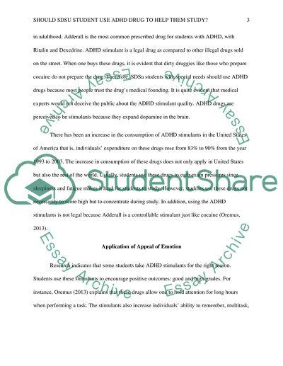 Should SDSu student use ADHD drug to help them study
